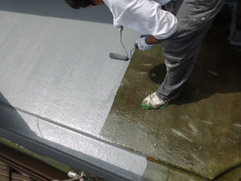 戸建住宅 ベランダ防水工事(FRP防水)